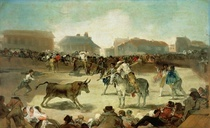 A Village Bullfight  von Francisco Jose de Goya y Lucientes