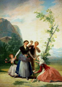 The Florists or Spring by Francisco Jose de Goya y Lucientes