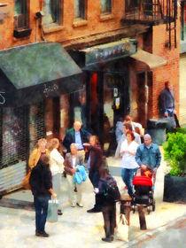 Manhattan - Crowded Sidewalk in New York by Susan Savad