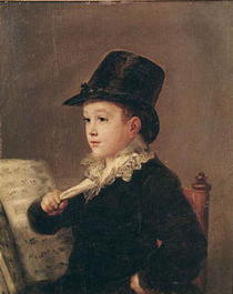 Portrait of Mariano Goya  by Francisco Jose de Goya y Lucientes