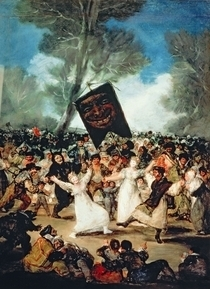 The Burial of the Sardine  by Francisco Jose de Goya y Lucientes