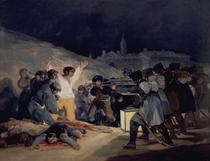 Execution of the Defenders of Madrid, 3rd May, 1808 by Francisco Jose de Goya y Lucientes