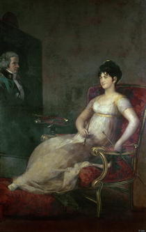 The Marquesa de Villafranca Painting her Husband by Francisco Jose de Goya y Lucientes