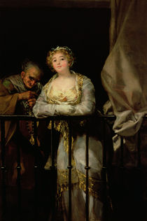 Maja and Celestina on a Balcony by Francisco Jose de Goya y Lucientes