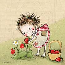 Hexe Waltraud mit Erdbeeren von Evi Gasser