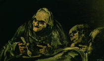 Two Old Men Eating, one of the `Black Paintings` by Francisco Jose de Goya y Lucientes