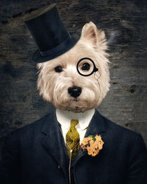 Westie Dog Art - Sir Bunty by thelonelypixel