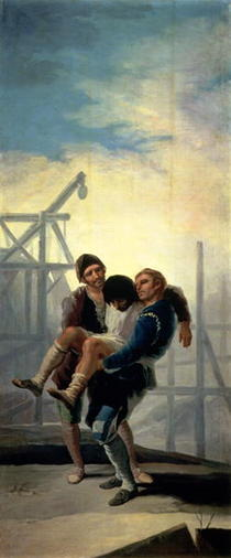 The Injured Mason by Francisco Jose de Goya y Lucientes