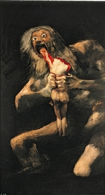 Saturn Devouring one of his Children by Francisco Jose de Goya y Lucientes