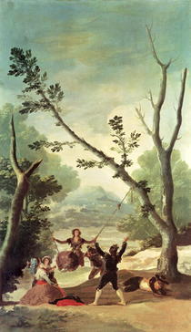 The Swing by Francisco Jose de Goya y Lucientes