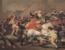 The Second of May, 1808. The Riot against the Mameluke Mercenari von Francisco Jose de Goya y Lucientes