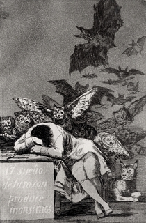 The Sleep of Reason Produces Monsters von Francisco Jose de Goya y Lucientes