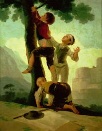 Boys Climbing a Tree, cartoon for a tapestry by Francisco Jose de Goya y Lucientes