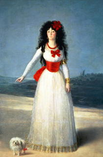 The Duchess of Alba von Francisco Jose de Goya y Lucientes