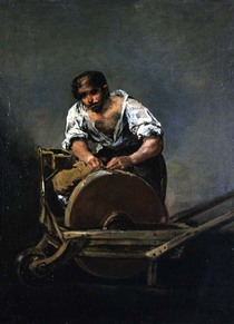 The Knife-Grinder by Francisco Jose de Goya y Lucientes