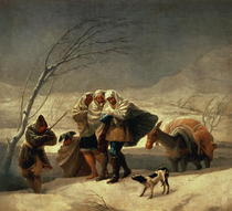 The Snowstorm by Francisco Jose de Goya y Lucientes