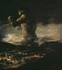 The Colossus by Francisco Jose de Goya y Lucientes