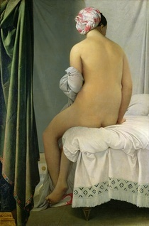 The Bather, called `Baigneuse Valpincon` by Jean Auguste Dominique Ingres