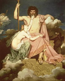 Jupiter and Thetis by Jean Auguste Dominique Ingres