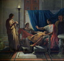 Virgil Reading the Aeneid to Livia, Octavia and Augustus von Jean Auguste Dominique Ingres