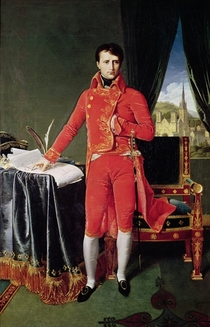 Bonaparte as First Consul by Jean Auguste Dominique Ingres