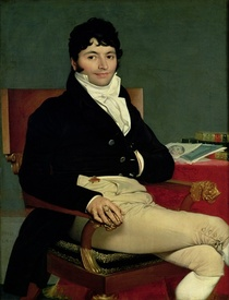 Philibert Riviere  by Jean Auguste Dominique Ingres