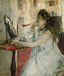 Young Woman Powdering her Face von Berthe Morisot