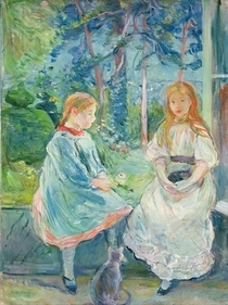 Young Girls at the Window von Berthe Morisot