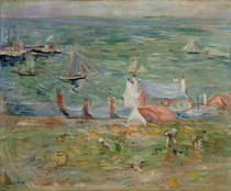 The Port of Gorey on Jersey von Berthe Morisot