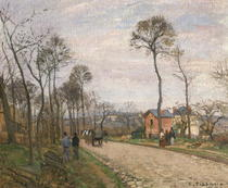 The Road from Louveciennes by Camille Pissarro