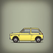 Honda N360 Yellow Kei Car (Square) by monkeycrisisonmars