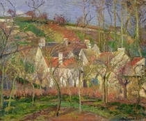 The Red Roofs, or Corner of a Village, Winter von Camille Pissarro