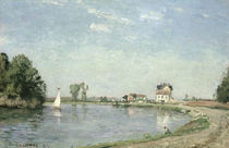 At the River`s Edge von Camille Pissarro