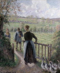 The Woman with the Geese von Camille Pissarro