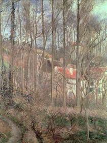 The Cote des Boeufs at L`Hermitage, Pontoise von Camille Pissarro