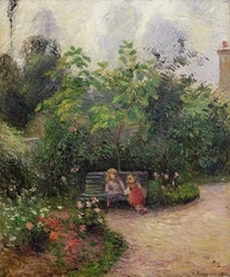 A Corner of the Garden at the Hermitage, Pontoise von Camille Pissarro