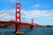 Der Blick zur Golden Gate Bridge in San Francisco von ann-foto