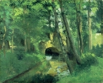 The Little Bridge, Pontoise von Camille Pissarro