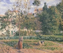 Vegetable Garden at the Hermitage, Pontoise von Camille Pissarro