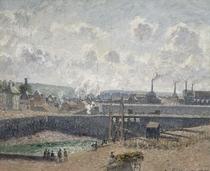 Low Tide at Duquesne Docks, Dieppe von Camille Pissarro