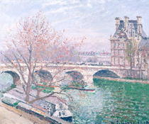 The Pont-Royal and the Pavillon de Flore von Camille Pissarro