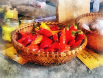Vegetables - Hot Peppers in Farmers Market by Susan Savad