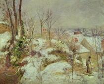 Snow Scene von Camille Pissarro