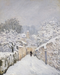 Snow at Louveciennes von Alfred Sisley