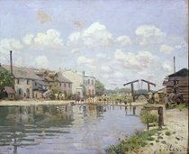 The Canal Saint-Martin, Paris von Alfred Sisley
