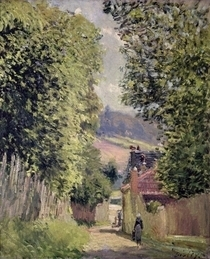 A Road in Louveciennes von Alfred Sisley