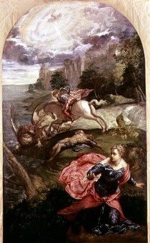St.George and the Dragon  von Jacopo Robusti Tintoretto
