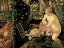 Susanna Bathing von Jacopo Robusti Tintoretto