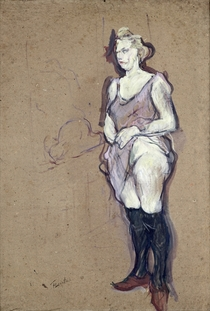 The Medical Inspection: Blonde Prostitute by Henri de Toulouse-Lautrec