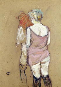 Two Semi-Nude Women at the Maison de la Rue des Moulins by Henri de Toulouse-Lautrec